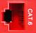 CM11351 - RED, CAT-6, RJ-45, F-M