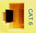 CM11353 - YELLOW, CAT-6, RJ-45, F-M