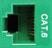 CM11354 - GREEN, CAT-6 RJ-45, F-M