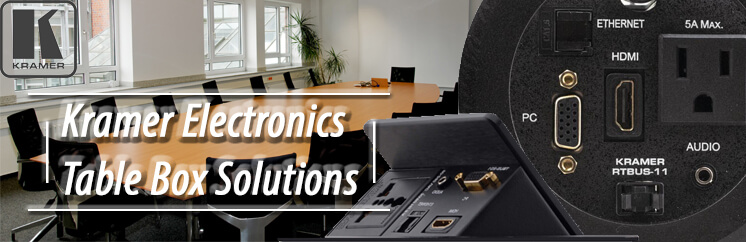 Kramer Electronics Table Box Solutions