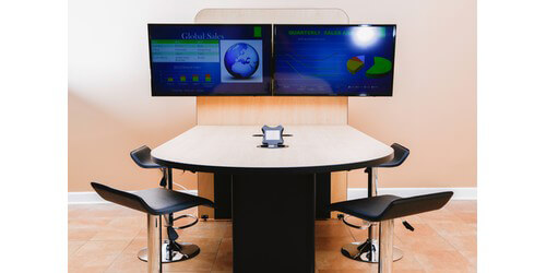 FSR HVTBTBLCH User Huddle Room Counter Height Table WIntegrated - Counter height conference table