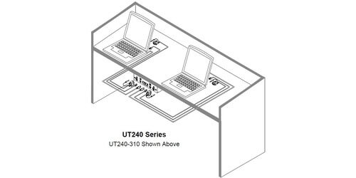 altinex ut240-125s under table av mount  1 hdmi  1 audio  1 cat6  1 usb  3 blanks