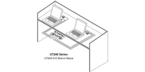 Altinex Ut240 128s Under Table Av Mount 1 Hdmi 1 Vga 1