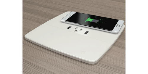Byrne Hq2 Charging Usb W Dual Wireless Qi Charging Table