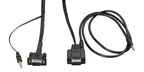 amx cbl-rgb a-fl fg10-2183-16 16 u0026 39  flat vga with audio cable