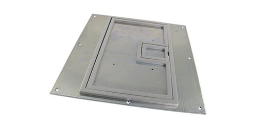 Fsr Fl 640p Ssq C Ul Cover W 1 4 Quot Square Aluminum Flange