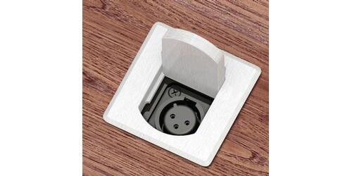 Fsr t3 mj alu tabletop xlr microphone box with tilt up for Xlr floor box