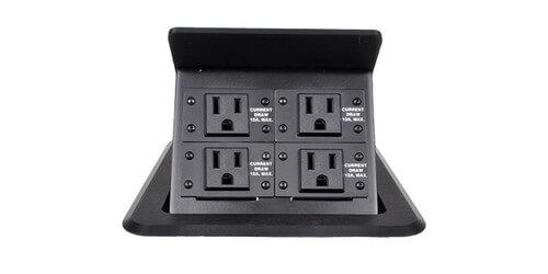FSR TBIPSKITD Tilt Up Flush Mount Hidden Power Station Table Box - Conference room table electrical outlets