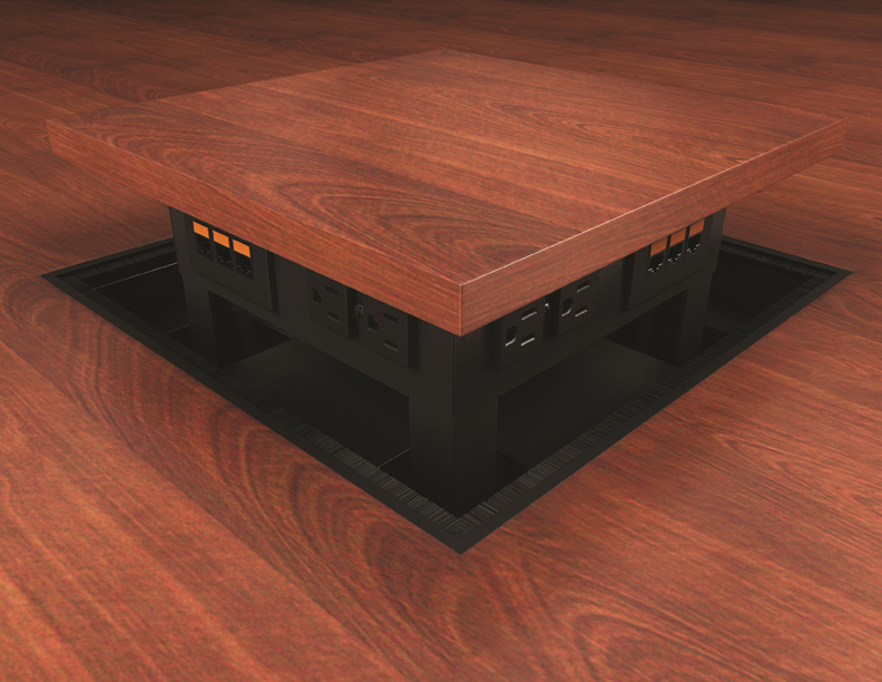 ECA Intercept Pop Up Sided Power And Data Table AV Box - Conference room table av box