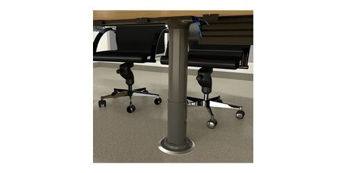 Wiremold MRTC Under Table Cable Management Post Conference Room AV - Conference room table cable management