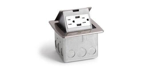 Lew Electric PUFP-CT-2USB Countertop Pop Up Box w/ 2 USB Charging & 2 ...