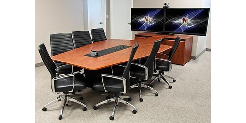 Avf t4000 conference room table with rack sits 7 to 12 people 12 crossfire java color greentooth Image collections