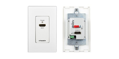Kramer Electronics WP-3H2 4K HDMI Wall Plate Extender Transmitter Front and Back View