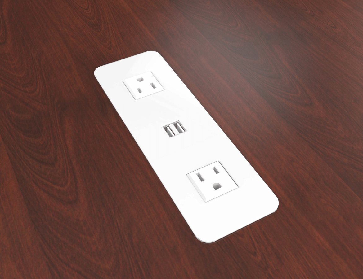 Eca Cove Usb Surface Mount 2 Power And 2 Usb Charging