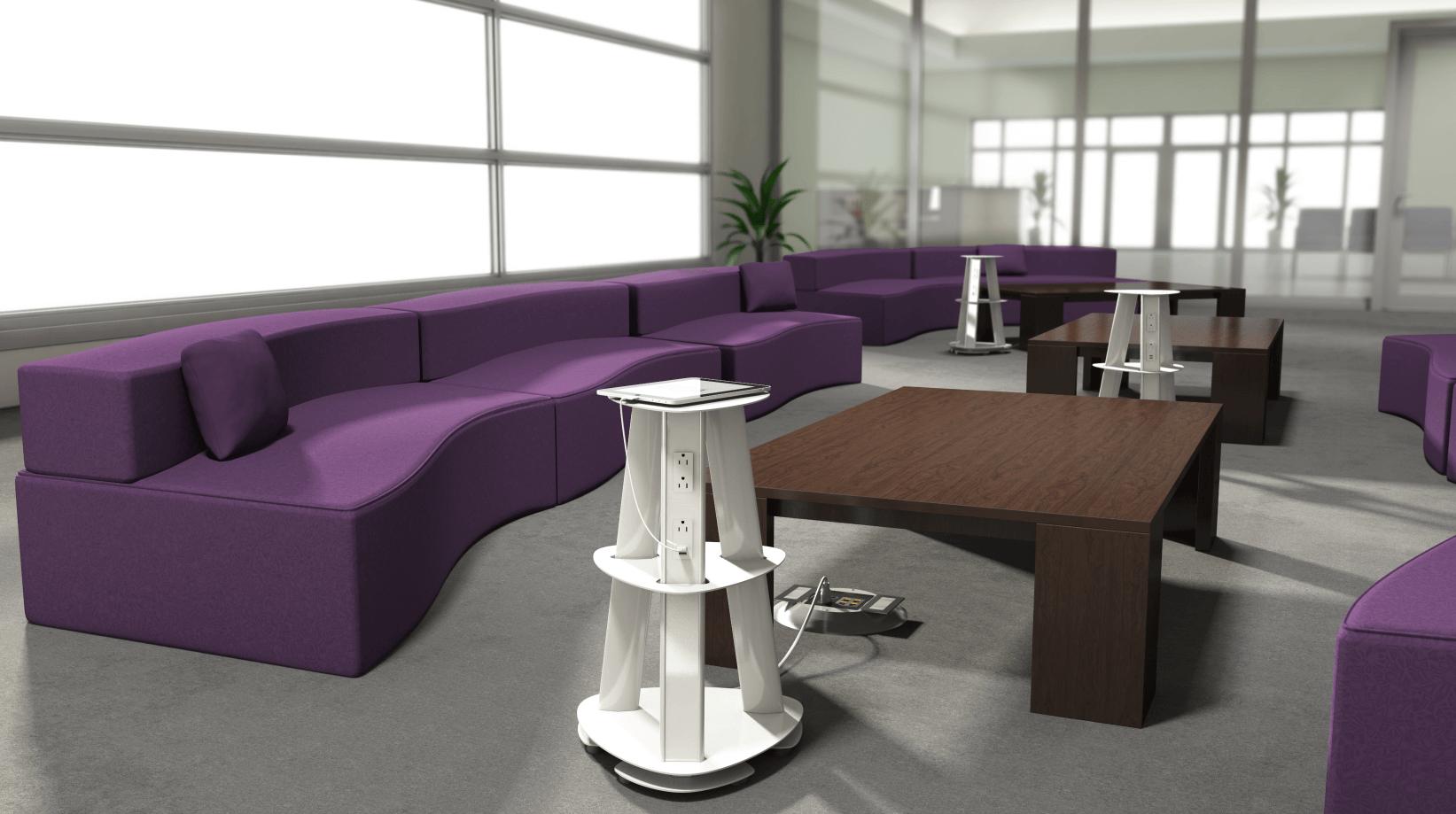 Usb Charging Hub >> ECA Isle Free Standing Portable Power Tower Charging Station, 9 AC & 6 USB - Conference Room AV