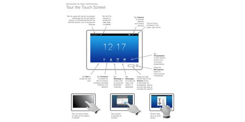 Cisco cts-ctrl-dv10 touch 10 telepresence device for ix, mx, sx.