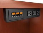 Conference table connection boxes interconnect av ports outlets table edge 35 greentooth Image collections