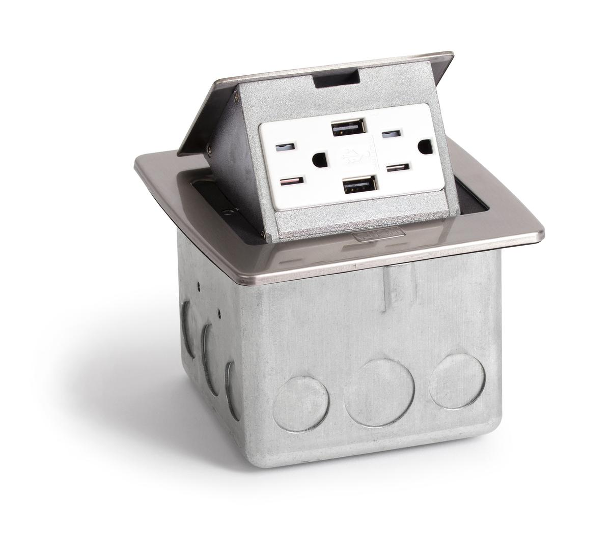 Countertop Usb : Lew Electric PUFP-CT-SS-2USB Countertop Pop Up Box w/ 2 USB & 2 Power ...