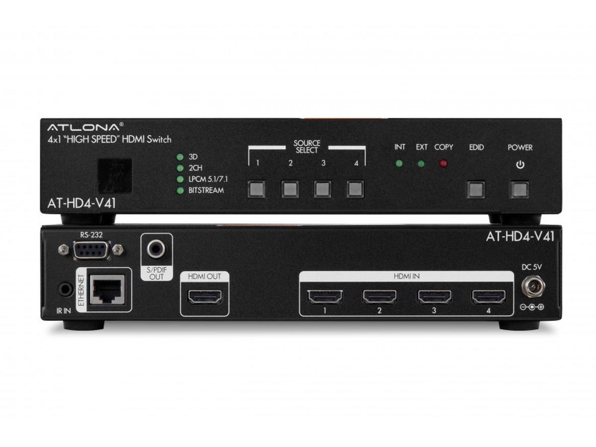 Atlona at hd4 v41 4x1 hdmi auto sense switcher 3d Video hd4