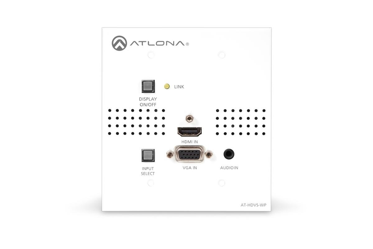 atlona at audio to hdbaset wall
