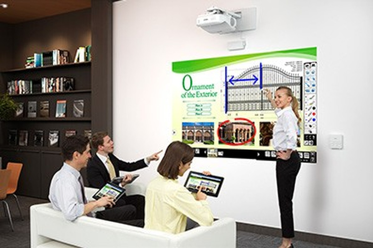 Kramer Collaborative Classroom : Epson brightlink pro wi v h w collaborative