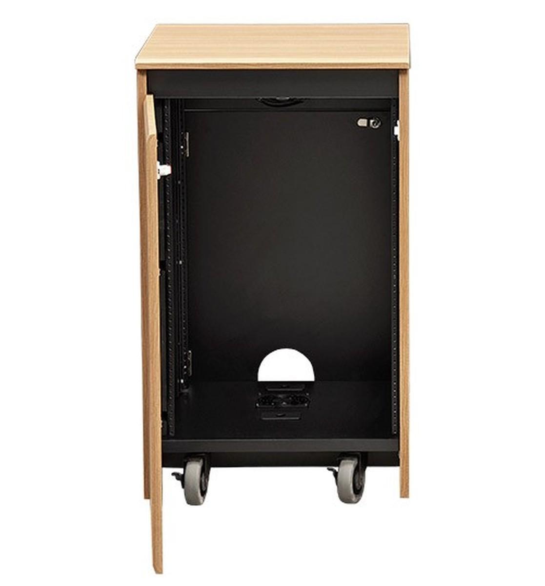 Avf cr1016ex rolling 16ru wood equipment rack 12 color for Avf furniture