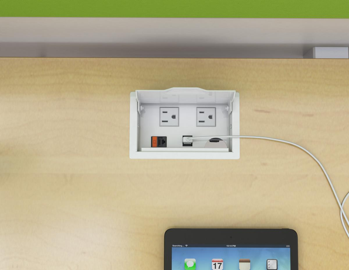 Eca Villa Ii Usb Table Charging Insert Dual Power 2 1a