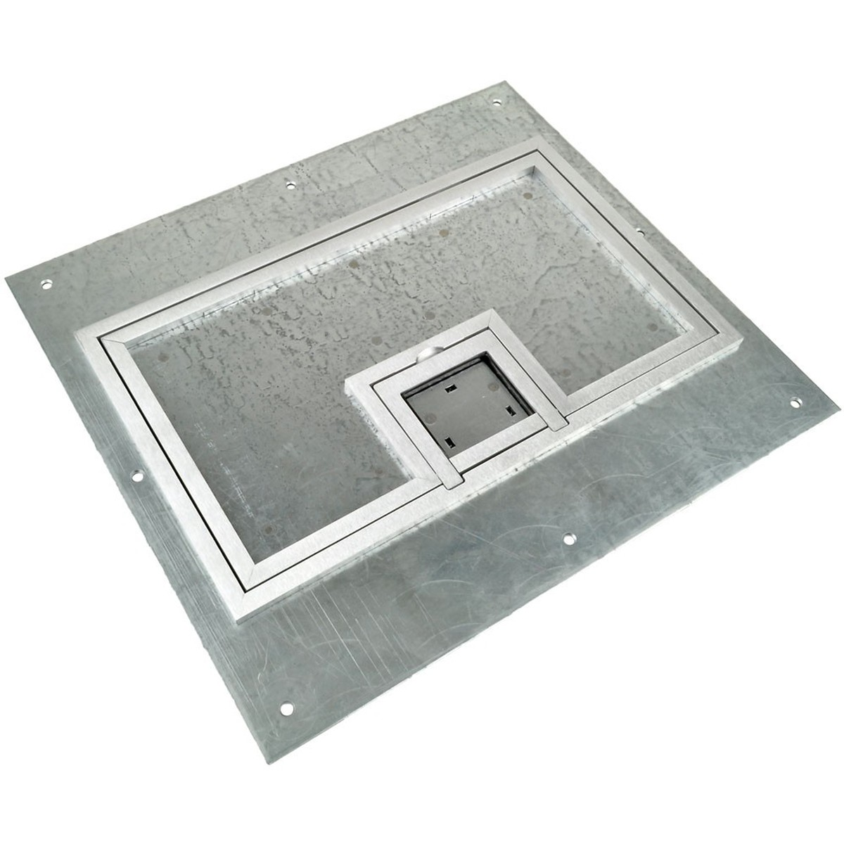 Fsr fl 600p ssq c cover w 1 4 square silver carpet for 1 inch square floor flange