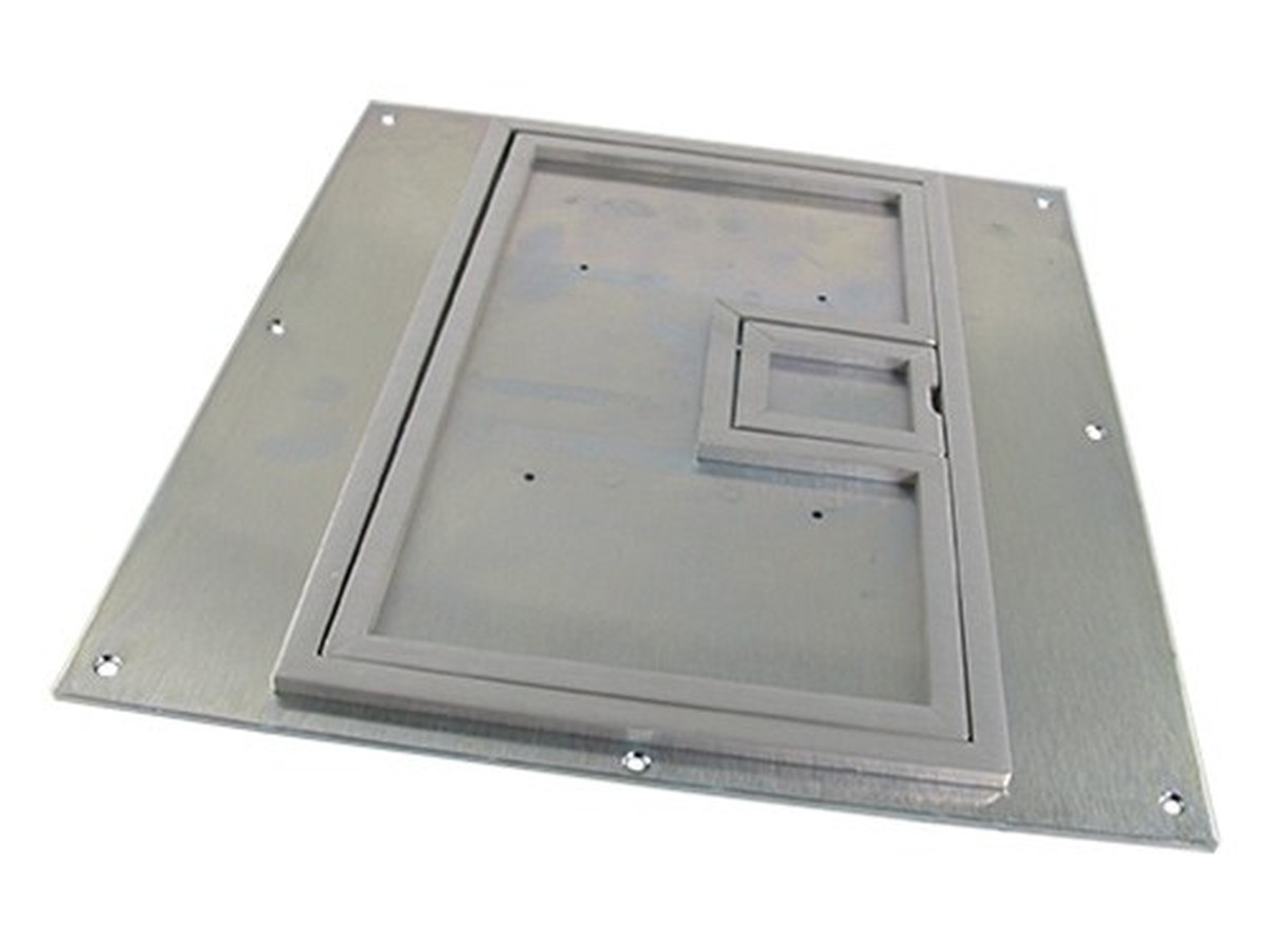 Fsr fl 640p ssq c ul cover w 1 4 square aluminum flange for 1 inch square floor flange