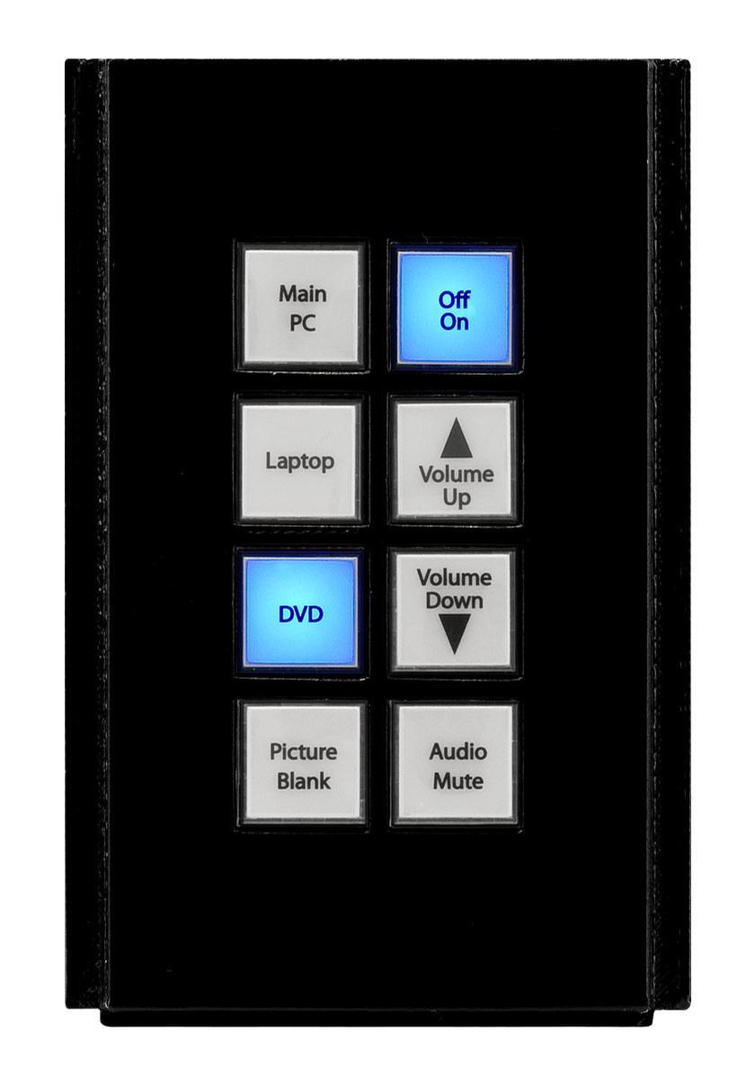 Amx Hpx U400 Sp 08 Ax Fg554 51 Bl Novara 8 Button Keypad W