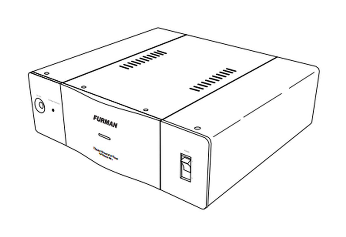 furman it-ref 16 e i discrete symmetrical ac power source  16a  230 vac