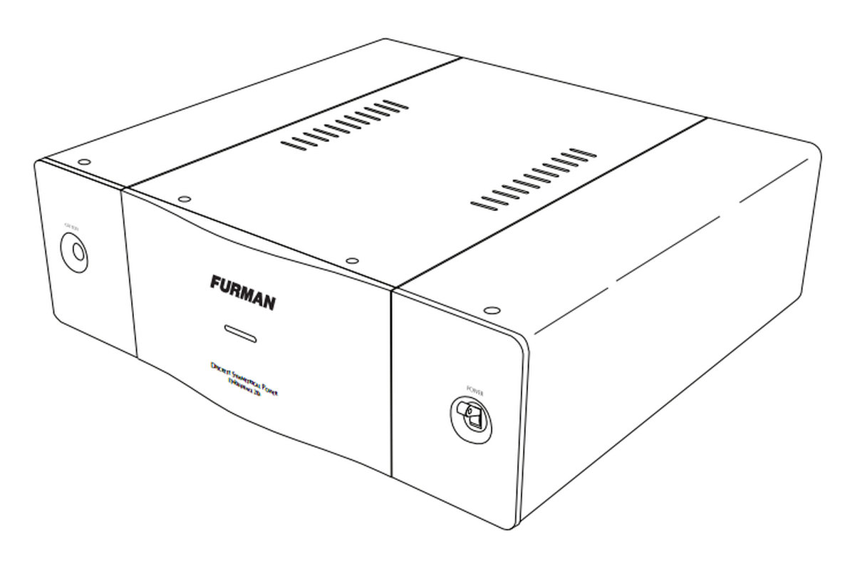 furman it-ref 20i discrete symmetrical ac power source  20a  120 vac
