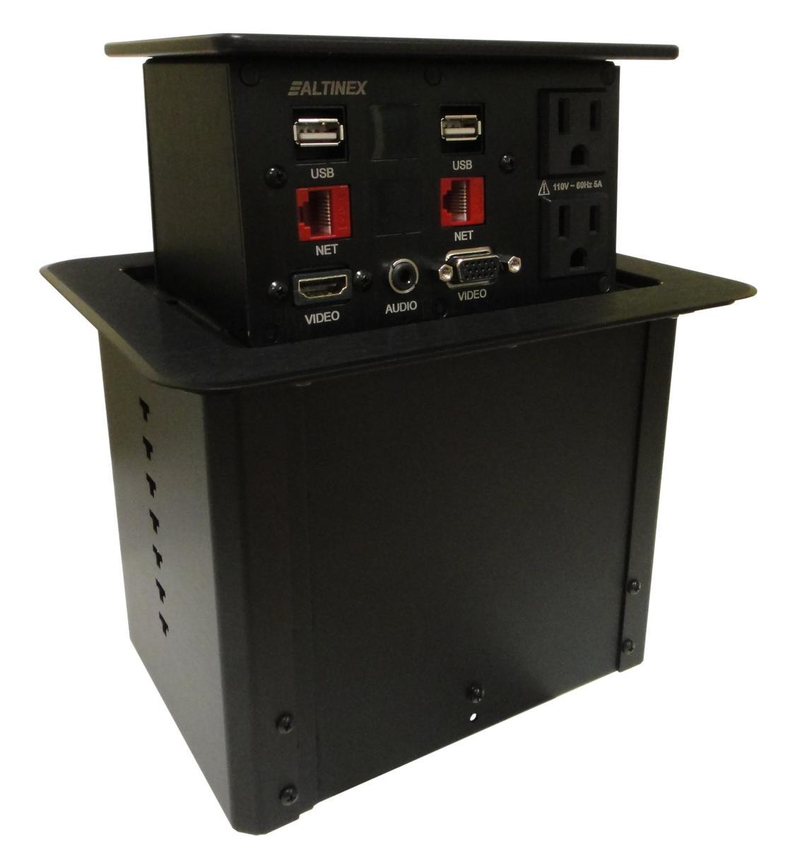 Altinex Pnp408c Customizable Pop Up Table Box 2 Power