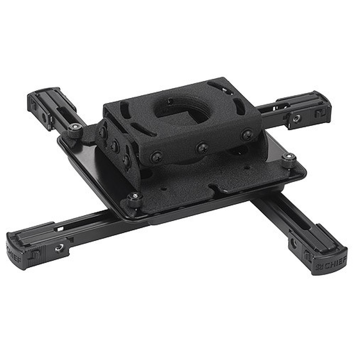 chief rpau universal projector mount with easy adjustments - black
