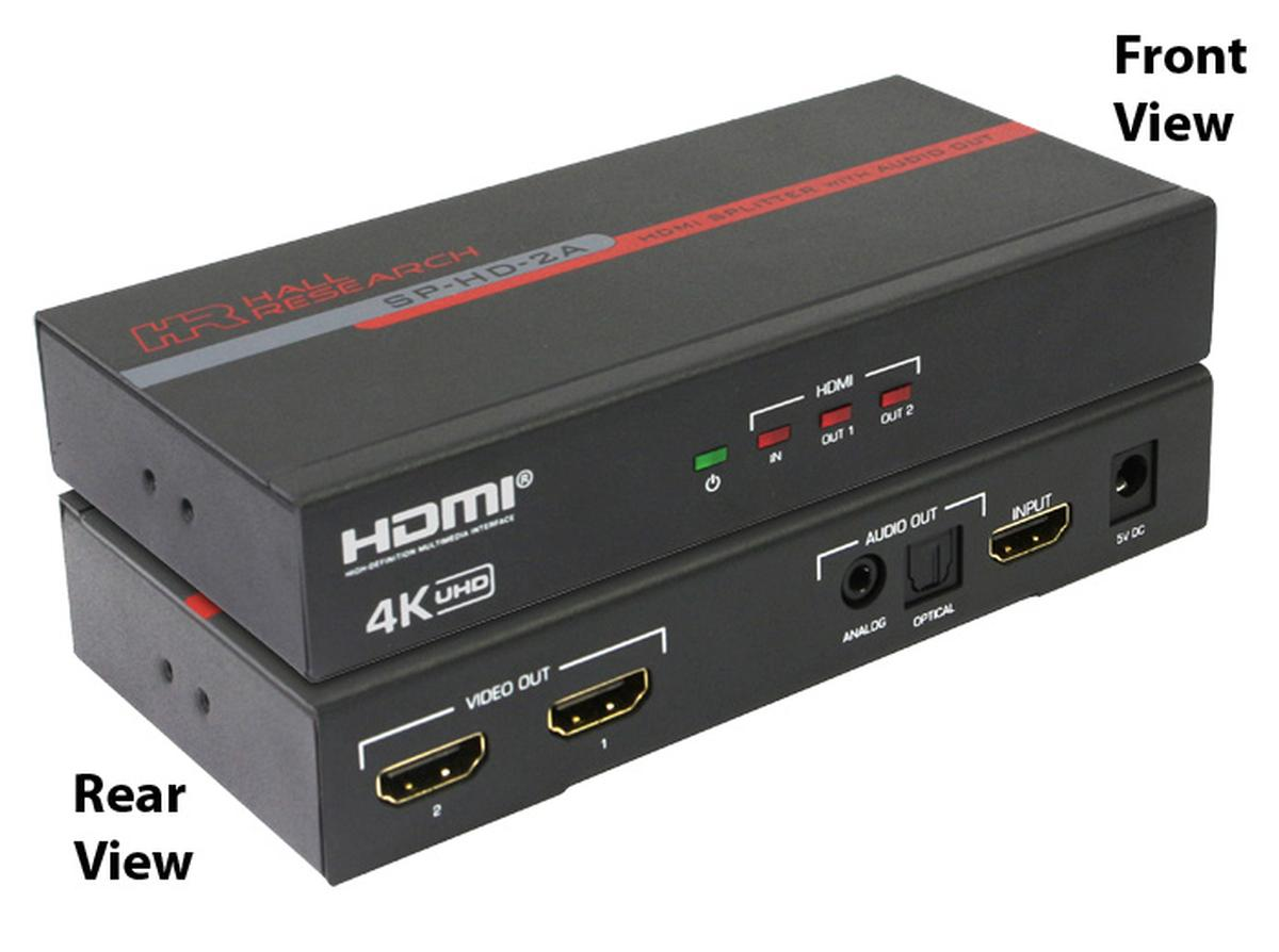 Hall Research Sp Hd 2a 4k 2 Channel Hdmi Splitter With
