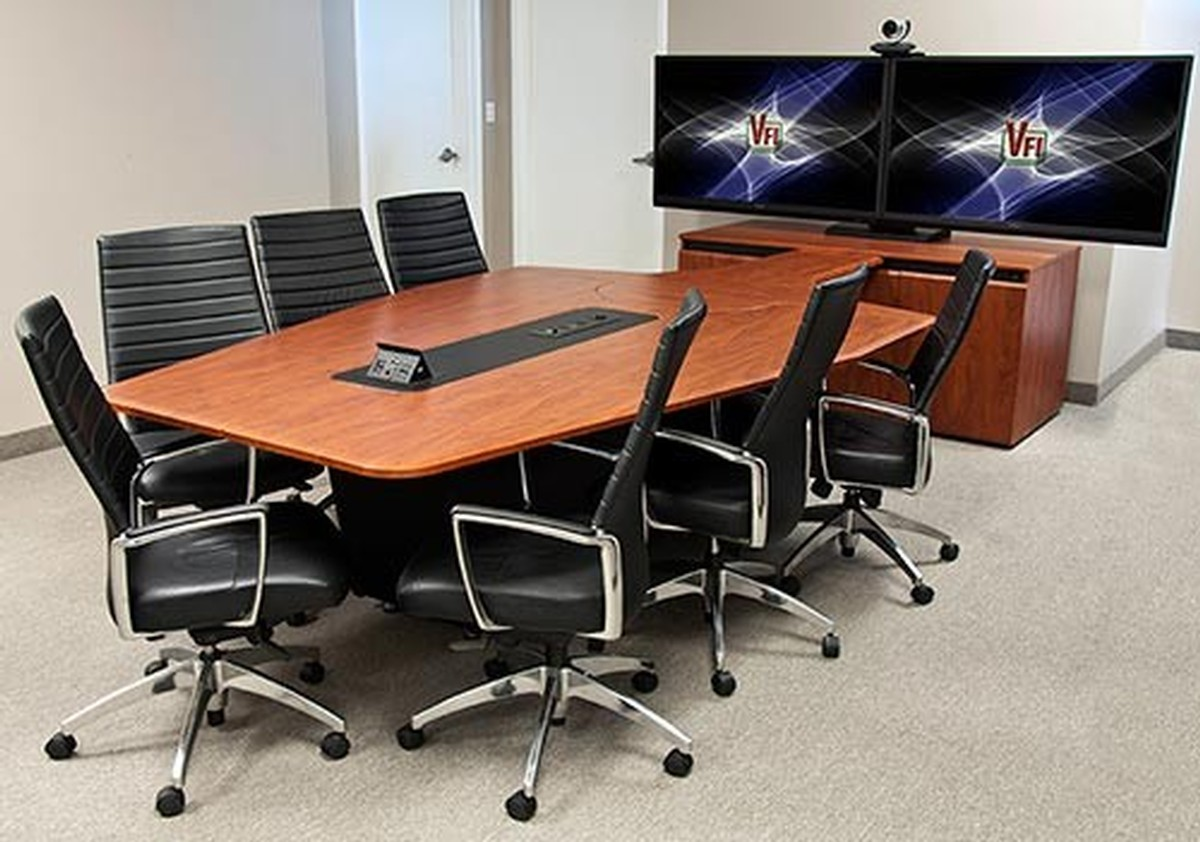 Avf t4000 conference room table with rack sits 7 to 12 for 12 person conference table