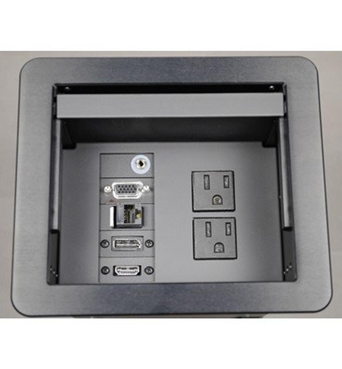 Wiremold Tb672apbk Kit1 Table Box W Power Hdmi Vga