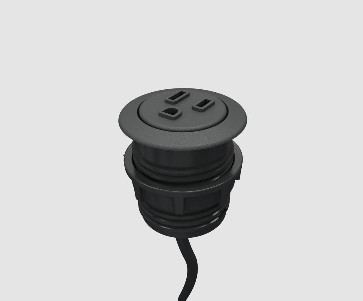 Byrne pepper spill proof one power round table grommet for Contacto para exterior