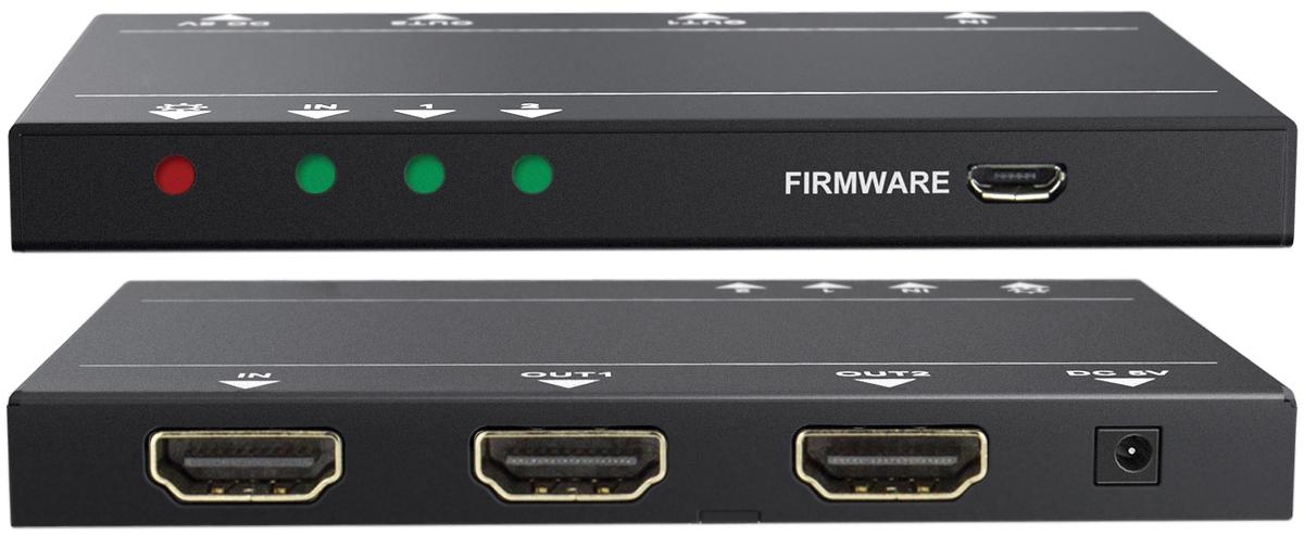 Aurora DXE-122A 1x2 HDMI 4K Splitter