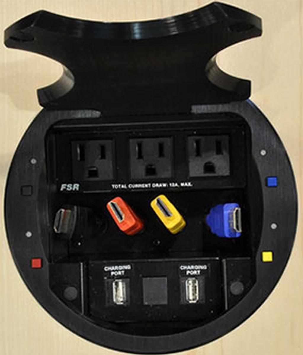 FSR HV HuddleVU User Tabletop Collaboration Kit HDMI AC - Conference table hdmi port