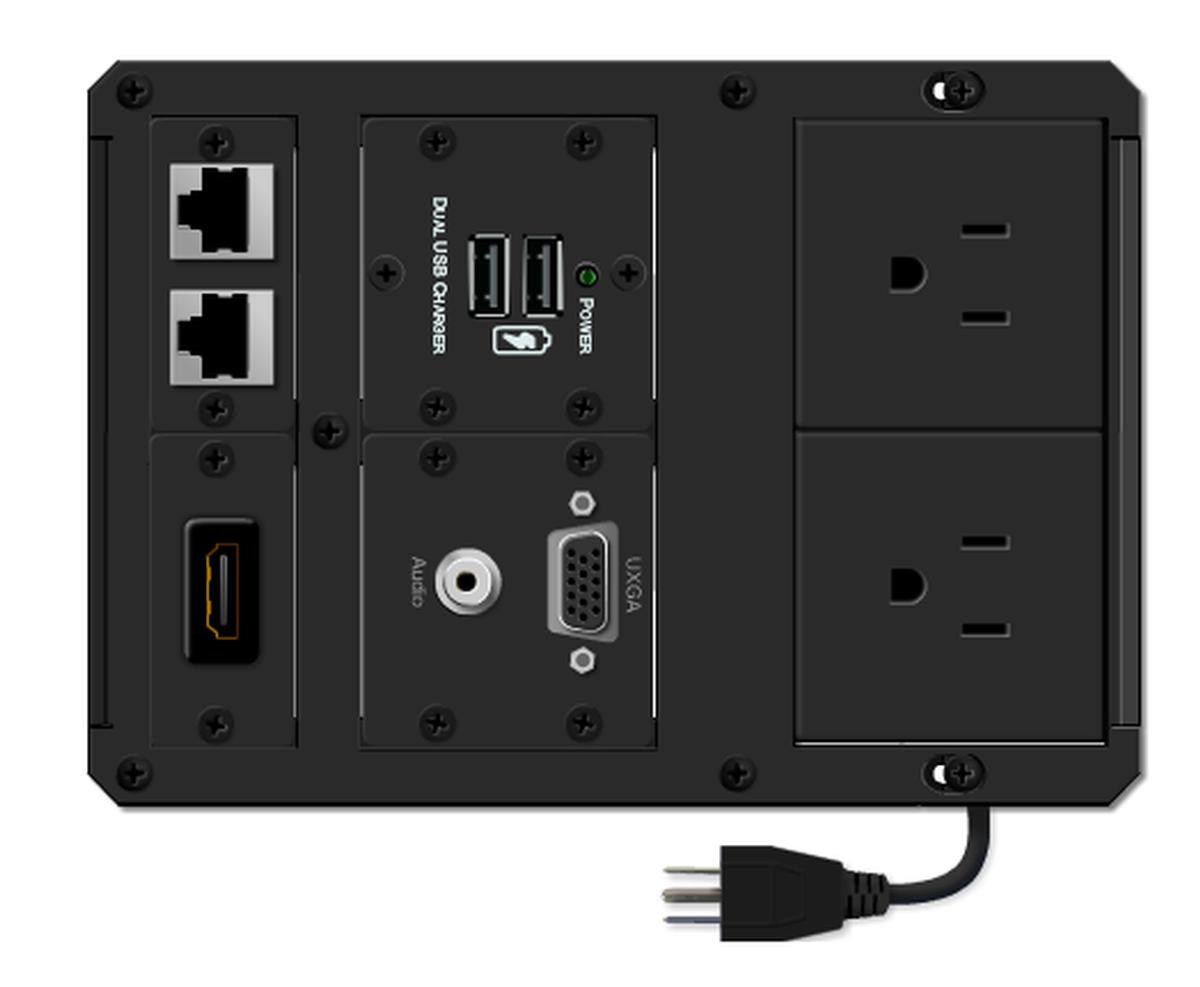 Kramer Tbus 1axl Kit5 Multimedia Flush Table Box With Dual